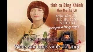 Lệ Buồn Nhớ Mi (Đăng Khánh, phổ thơ Du Tử Lê) - Melody Sing Along