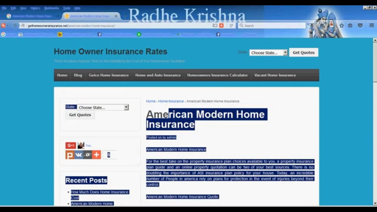 American Modern Home Insurance Quotes Youtube