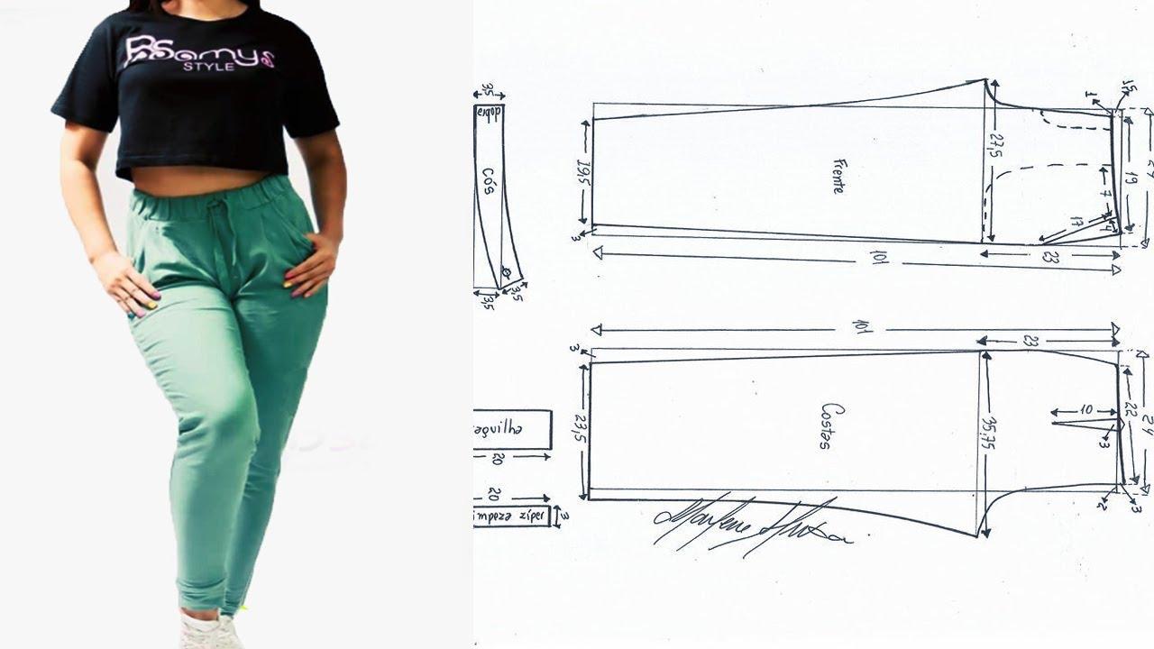 Molde De Jogger Pantalon Dama 2020 Tips De Confeccion Youtube