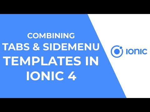 Ionic 4 and Angular - Combining Tabs and Sidemenu Templates (Depreacted)