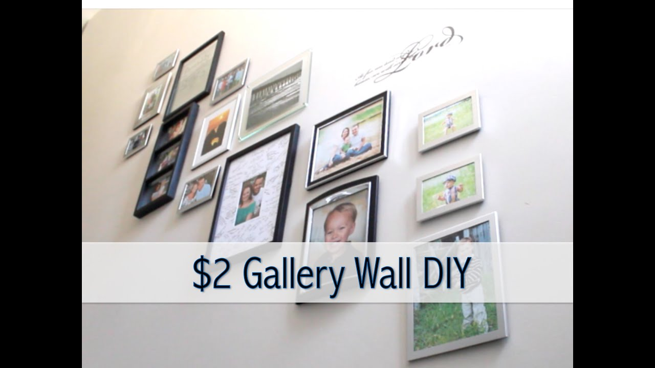 2 gallery wall diy how to create a gallery wall youtube. Black Bedroom Furniture Sets. Home Design Ideas