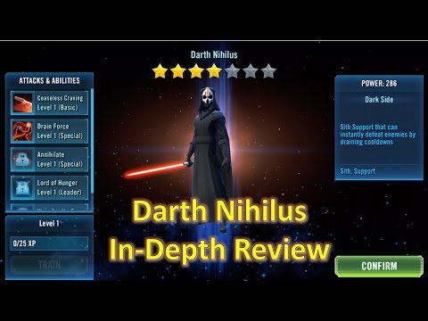 Star Wars Galaxy of Heroes: Darth Nihilus Gear 11 In-Depth Review