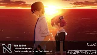 Nightcore - Talk To Me
