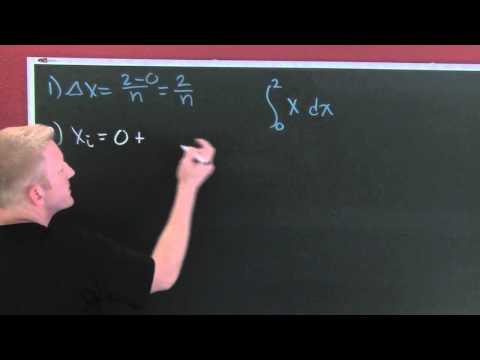 Riemann Sum First Example