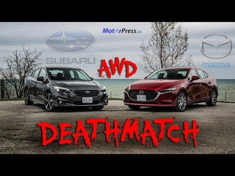 2019 Mazda 3 GT Premium AWD Vs 2019 Subaru Impreza Sport Tech Eyesight AWD