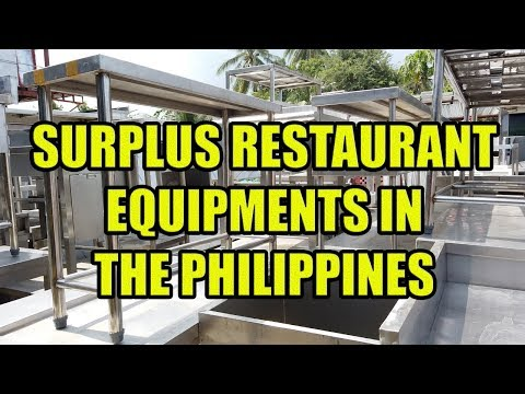 Surplus Restaurant Equipments In The Philippines.