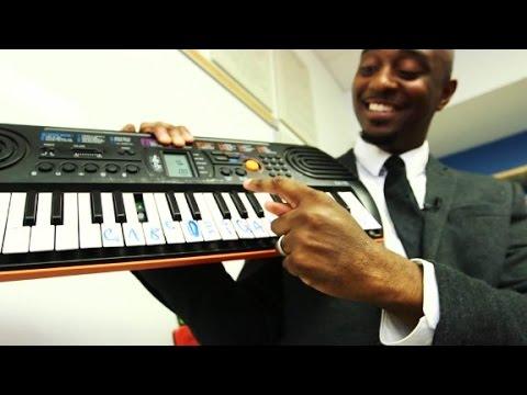 Students learn math through music.