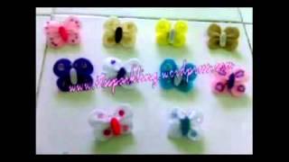 Repeat youtube video Cara Membuat Bros Kupu-kupu dan bunga dari flanel - Video Bagus