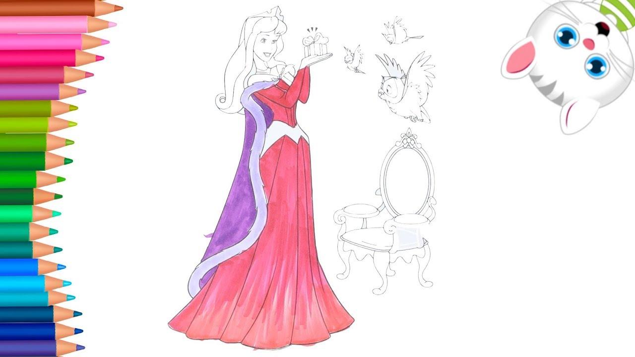 La Bella Durmiente Dibujos Para Colorear Dibujos Para Pintar Con Mimi Aprender Colores