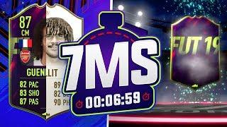 THE FUTURE GULLIT!! 87 GUENDOUZI 7 MINUTE SQUAD BUILDER!! - FIFA 19 ULTIMATE TEAM