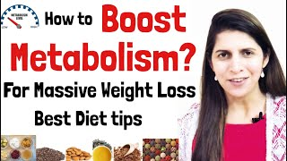 How to Boost Metabolism For Weight Loss | Best Food to Improve Metabolism | Science Based | Hindi