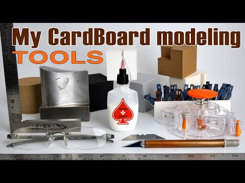 My CardBoard Modeling Tools: Model  Making For Designers & Architects