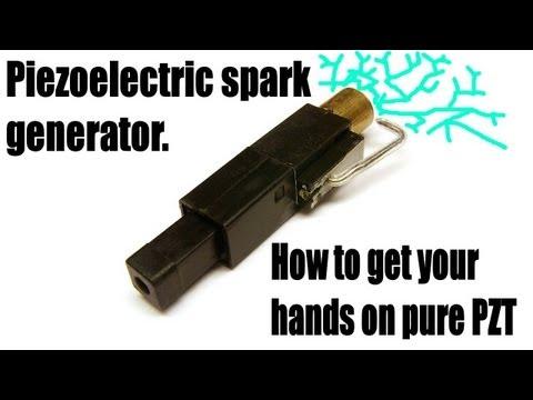 Piezoelectric spark generator.