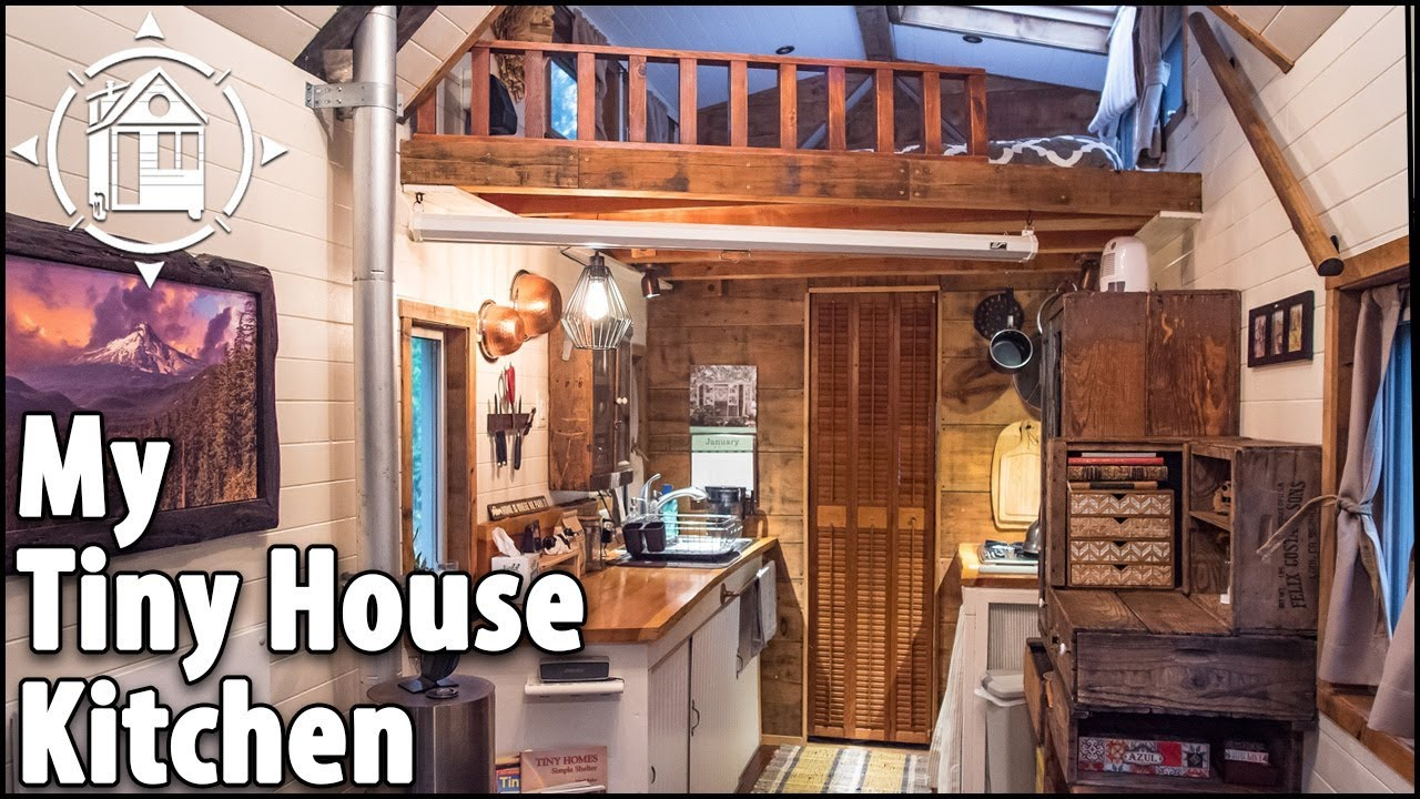 tiny house kitchen cooking with simple appliances [ 1280 x 720 Pixel ]