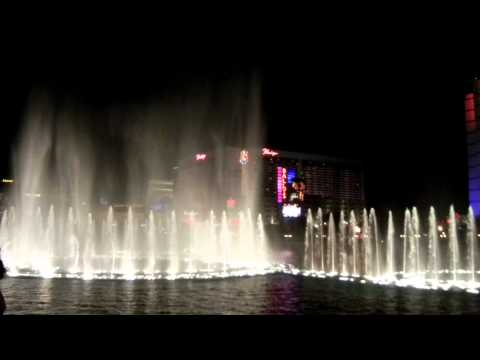 Awesome Fountain Show at Bellagio, Las Vegas (New ...