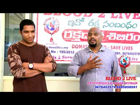 BLOOD 2 LIVE FOUNDER PAVAN SPEECH ON VOLUNTARY BLOOD DONATIONS