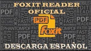 Descargar Foxit Reader en Español Oficial 2014