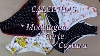 CALCINHAS – Modelagem base /Corte / Costura