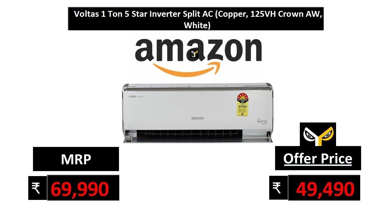 aa7ee256f36 Voltas 1 Ton 5 Star Inverter Split AC (Copper
