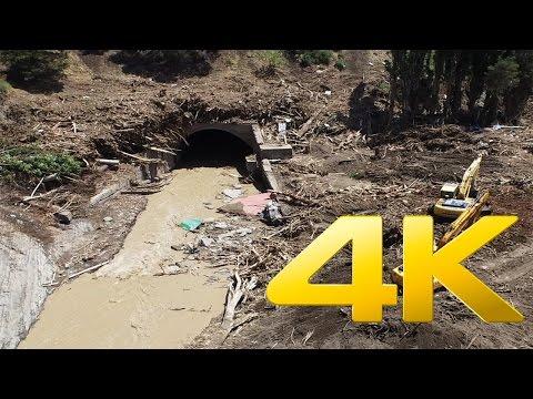 Disaster in Tbilisi, Svanidze Street Flood,სვანეთის ქუჩა ,4K aerial video footage DJI Inspire 1