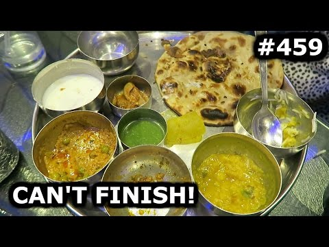 CAN'T FINISH THIS THALI AND TRYING PETHA | AGRA DAY 459 | INDIA | TRAVEL VLOG IV