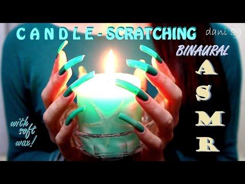 ☾ ASMR ☽ 🔊 NAIL-SCRATCHING 🎧 BIG CANDLE 🎍 & SOFT WAX 👀 with my super Long Natural Nails ✶ 💤