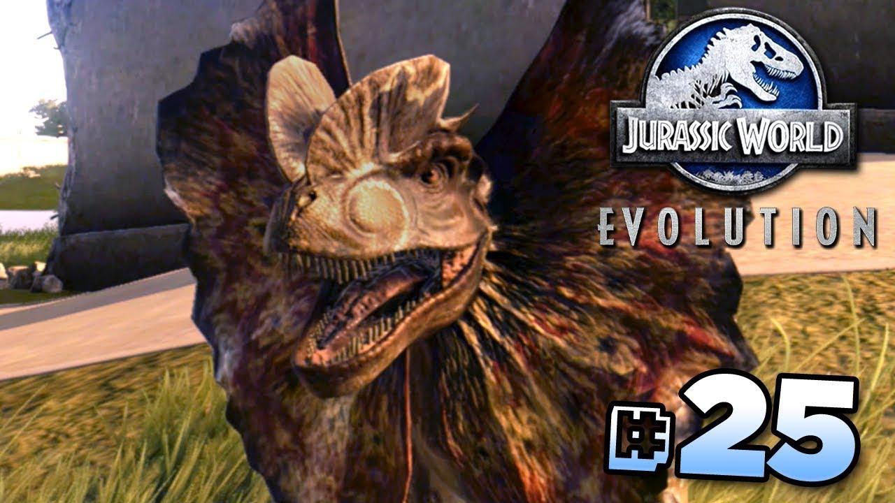 Dilophosaurus Breakout Jurassic World Evolution Full Playthrough Ep25 Hd Youtube