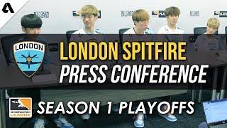 London Spitfire Overwatch League Quarterfinals Playoffs Press Conference