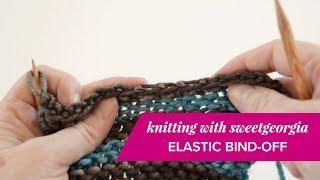Elastic Bind Off // knitting tutorial by SweetGeorgia