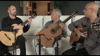 """Barcelona Guitar Trio rehearses """"Entre dos Aguas"""""""