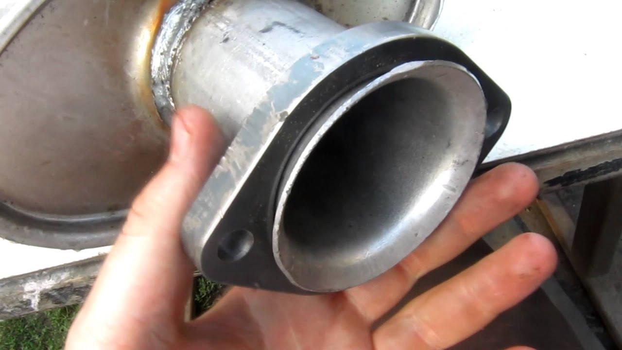 Ремонт глушителя ВАЗ 2106, установка глушителя от СААБ 9000