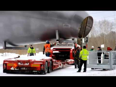 Oversized Load Hansatrans - Lifting works in Narva Estonia, Winter 2012