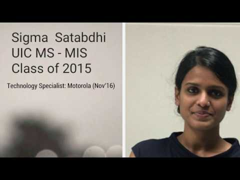 UIC MS MIS Testimonial - Sigma Satabdhi