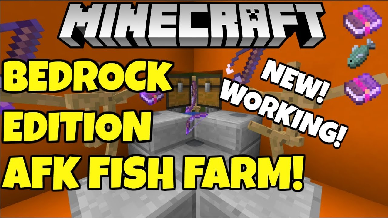 Minecraft Afk Fish Farm For Better Together Xbox Pc Pe Windows 10 Youtube