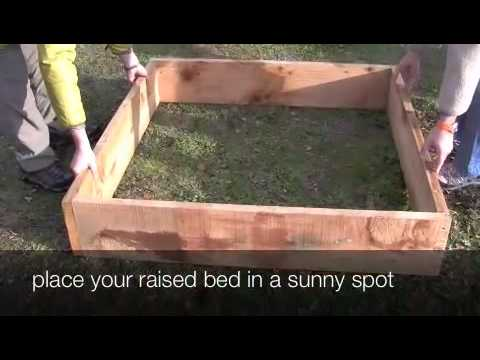 How to Build a Raised Vegetable Garden Bed YouTube