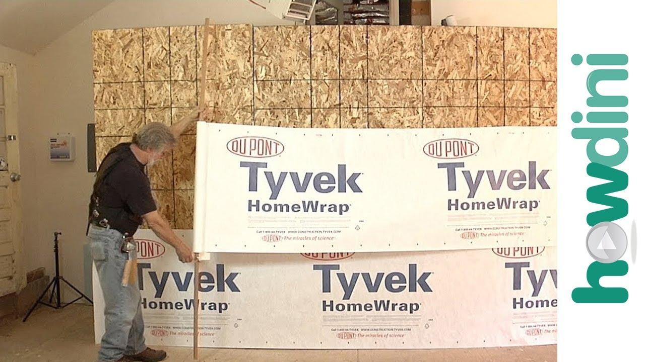 Tyvek House Wrap Installation Architectural Designs