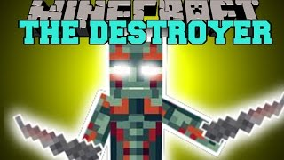 Minecraft: DRAX THE DESTROYER (BLACK WIDOW & THE DESTROYER) Mod Showcase