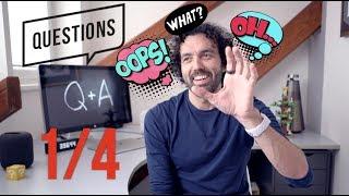 Q & A 1/4 - O videích, práci, rodině, vydělávání peněz, Apple a boosted board...  [4K]