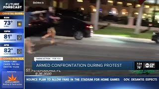 Armed confrontation caught on camera during protest in St. Pete