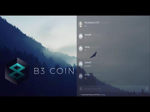 B3 Coin community meeting (May 02, 2018)