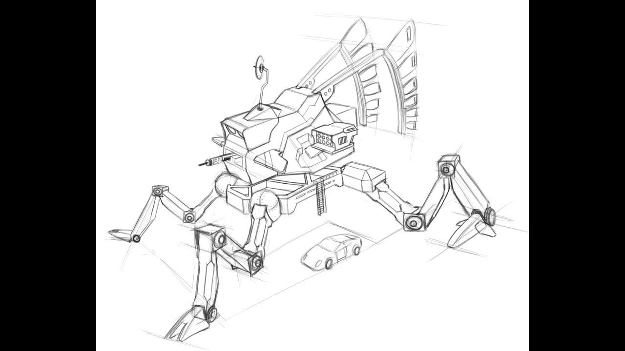 Robot Concept Art Sketches