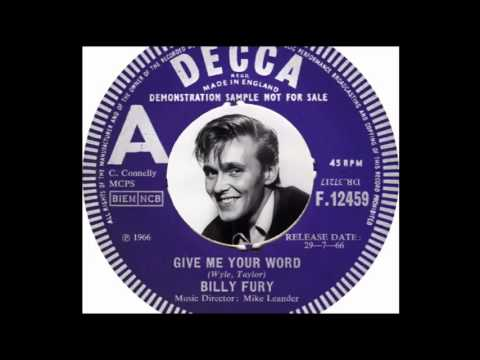Billy Fury -  Give Me Your Word - Live At The BBC [25/7/66]