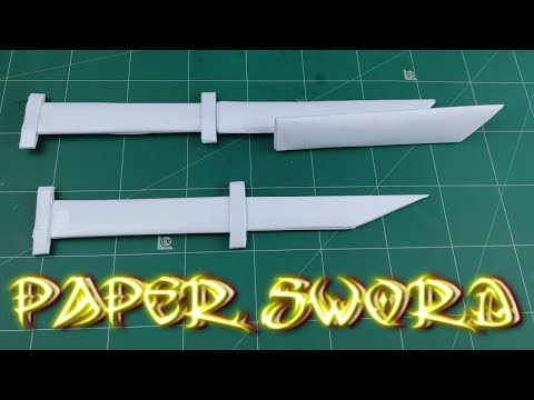 How To Make A Paper Sword With Cover | DIY Easy Ninja Knife Tutorial | Origami Toy Weapons
