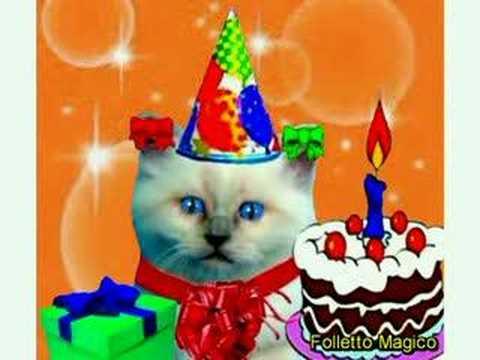 Micio buon compleanno tanti auguri a te youtube for Tanti auguri a te suoneria per cellulari