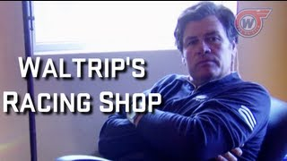 Michael Waltrip Shows Off His Huge Racing Shop