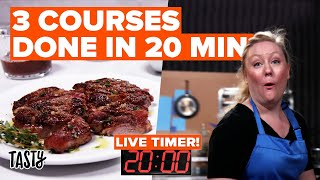 20-Minute Meals Challenge: Steakhouse Dinner • Tasty