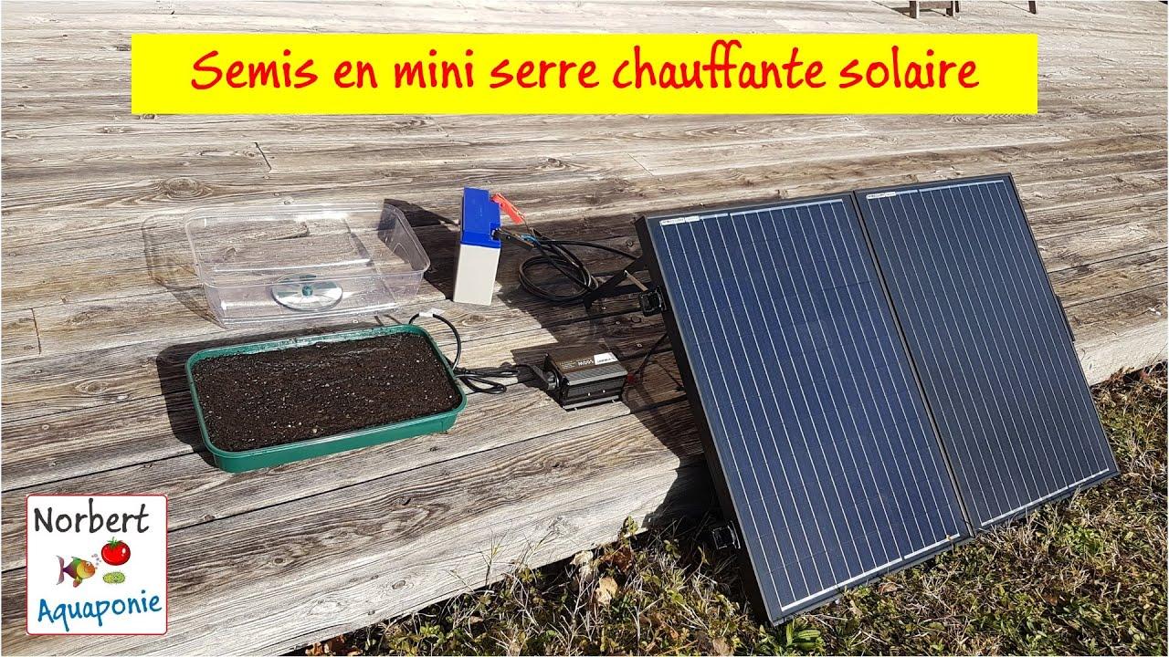 semis en mini serre chauffante solaire