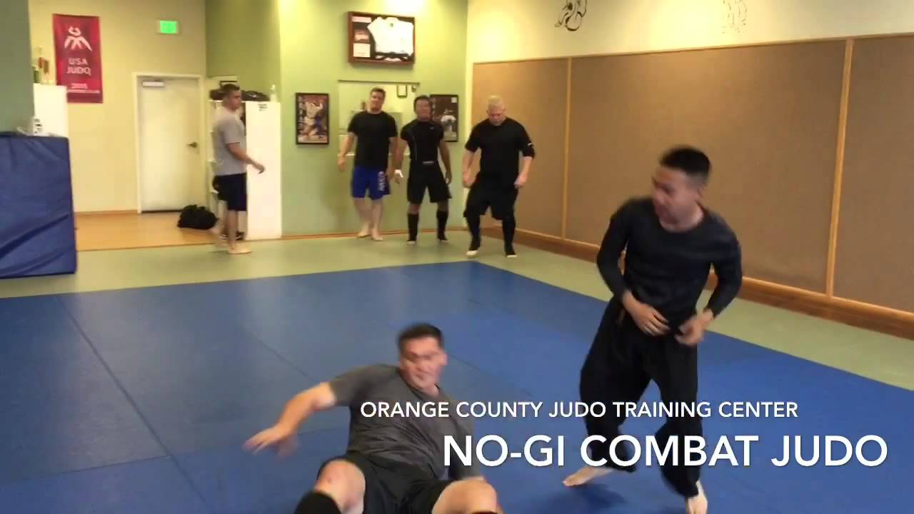 OCJTC No-Gi (combat) Judo class - Judo throws against larger opponents