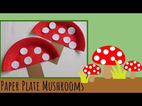 Paper Plate Mushrooms - Kids Craft - Vera's Creations