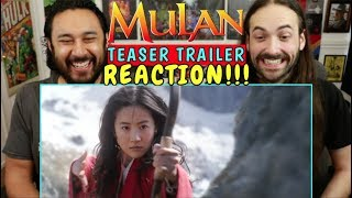 MULAN (2020) | Teaser TRAILER - REACTION!!!